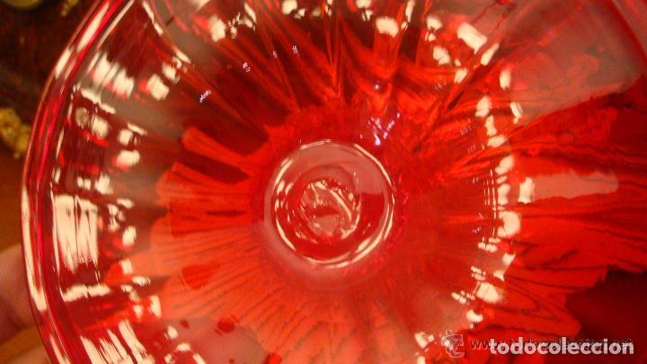 Antigüedades: 35 cmts, copa cristal frances.Centro de mesa. siglo XIX - Foto 10 - 108342159