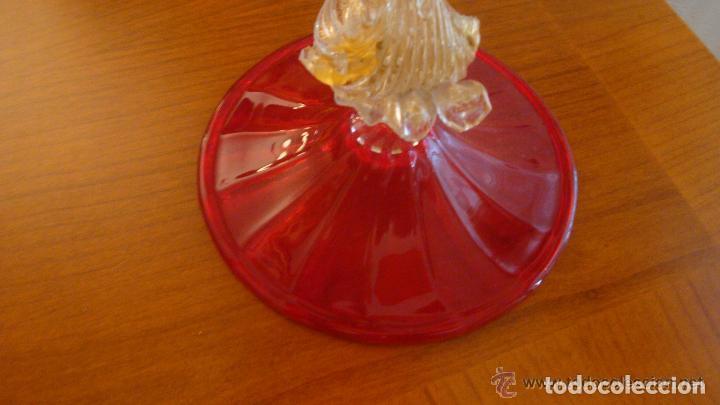 Antigüedades: 35 cmts, copa cristal frances.Centro de mesa. siglo XIX - Foto 11 - 108342159