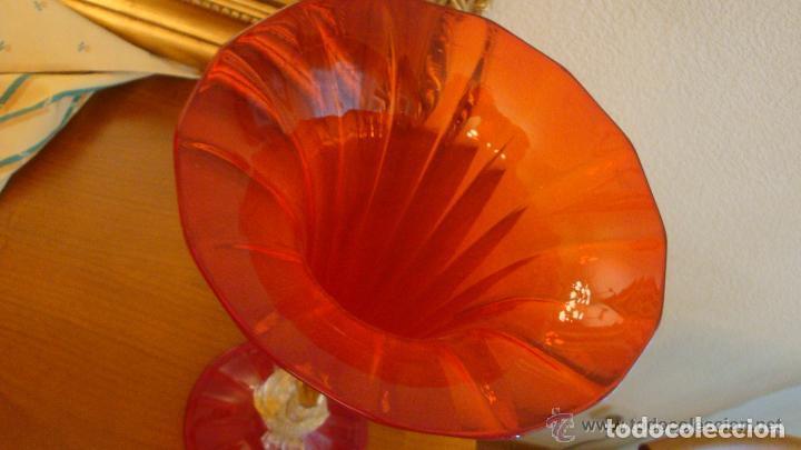 Antigüedades: 35 cmts, copa cristal frances.Centro de mesa. siglo XIX - Foto 12 - 108342159