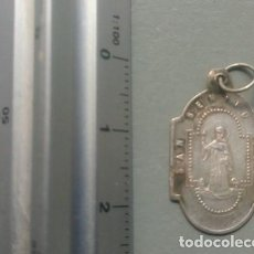 Antigüedades: MEDALLA RELIGIOSA ANTIGUA SAN BENITO FUNDADOR MONTSERRAT PLATA. Lote 108351247