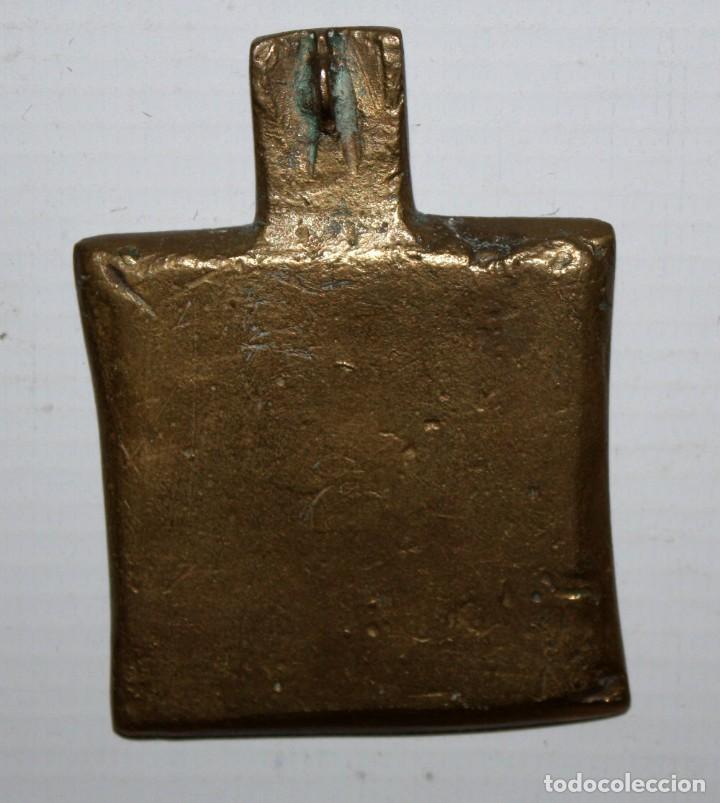 Antigüedades: MEDALLON ORTODOXO O MEDALLA ORTODOXA EN BRONCE DE ALTA EPOCA. 7 CM. DE ALTURA X 5 CM. DE ANCHO - Foto 4 - 108369731