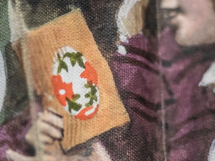 Antigüedades: Abanico de asta de toro y seda pintado a mano - Foto 4 - 53351934