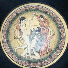 Antigüedades: PLATO TERRACOTA ESCENA GRIEGA. Lote 108376155