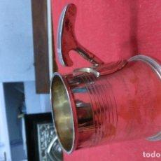 Antigüedades: JARRA DE METAL PLATEADO. Lote 108428383
