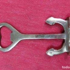 Antigüedades: JABRIDOR EN FORMA DE ANCLA DE METAL PLATEADO. Lote 108428471