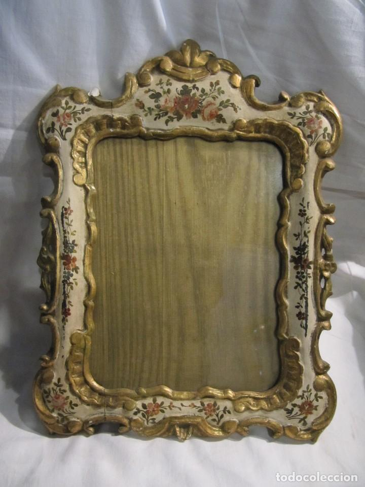 precioso marco portafotos de madera pintada y a - Comprar Marcos ...