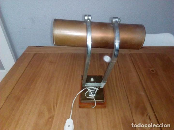 Antigüedades: Lampara de.mesa art decó - Foto 2 - 108671967