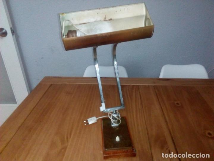 Antigüedades: Lampara de.mesa art decó - Foto 3 - 108671967