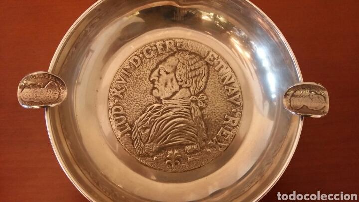 Antigüedades: Gran cenicero de alpaca - Foto 2 - 108721724