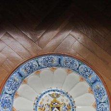 Antigüedades: GRAN PLATO DE CERAMICA TRIANA. Lote 108743579