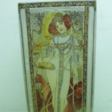 Antigüedades: EXCLUSIVO JARRÓN CRISTAL GOEBEL-ARTIS ORBIS-EDICIÓN ALPHONSE MUCHA-THE SEASONS 1900 - SPRING AUTUMN. Lote 108763739