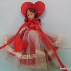 Muñecas Composición: VINTAGE NANCY ANN STORY BOOK DOLL 1949'S ,MUÑECA ANTIGUA PORCELANA / BISQUE 15 CM.REINA DE CORAZONES. Lote 108764015
