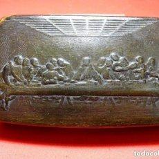 Antigüedades: ULTIMA CENA, CAJA ASTA , CON RELIEVES.LEONARDO DA VINCI . JESUCRISTO. Lote 108769711