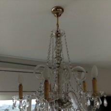 Antigüedades: ANTIGUA LAMPARA LAGRIMAS DE CRISTAL. Lote 108775848