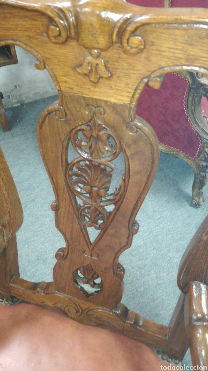 Antigüedades: Sillones de madera de Castaño jm/ - Foto 4 - 108777604