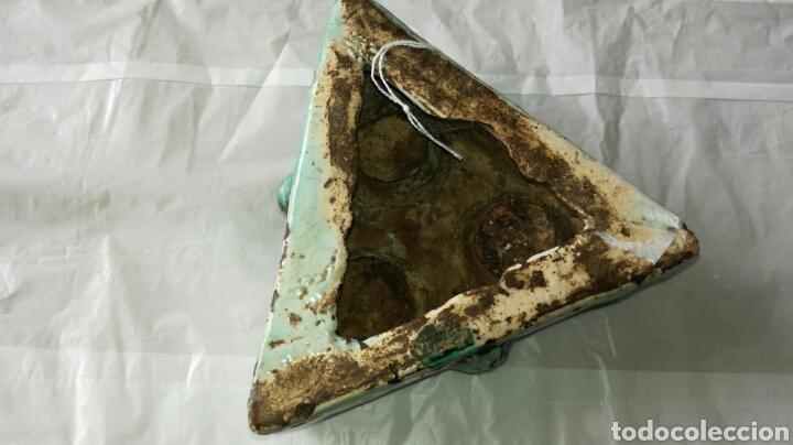 Antigüedades: Tintero o especiero antiguo jm / - Foto 5 - 108782920