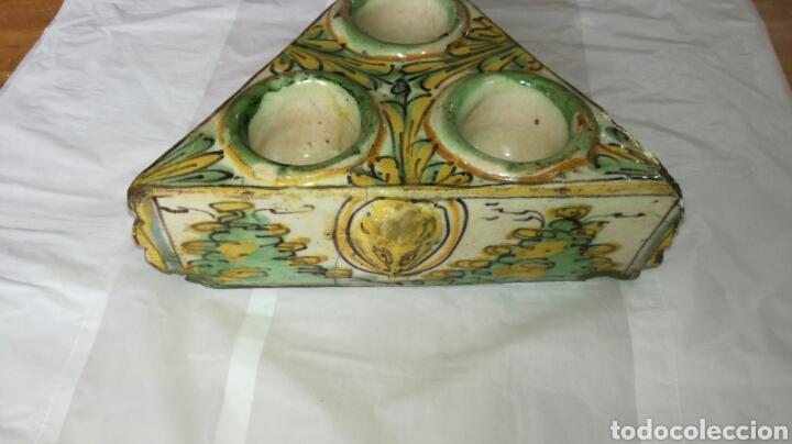 Antigüedades: Especiero o tintero muy antiguo j m/ - Foto 2 - 108783532