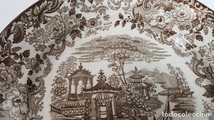 Antigüedades: PLATO DE PORCELANA. ESTAMPADO SERIE ORIENTAL. PICKMAN. SEVILLA. SIGLO XIX-XX. - Foto 6 - 108788631