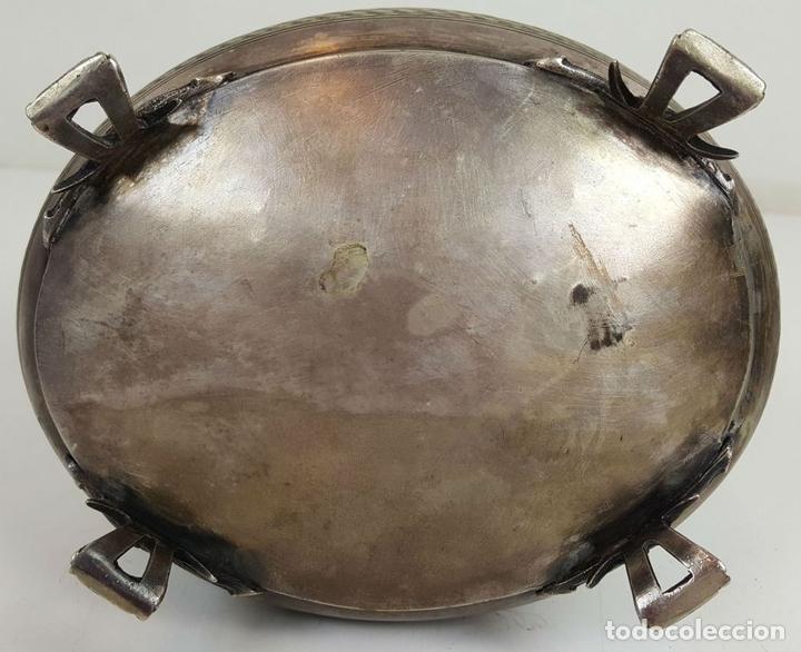 Antigüedades: JOYERO DE ALPACA PLATEADA. ESTILO BARROCO. SIGLO XX. - Foto 8 - 108790139