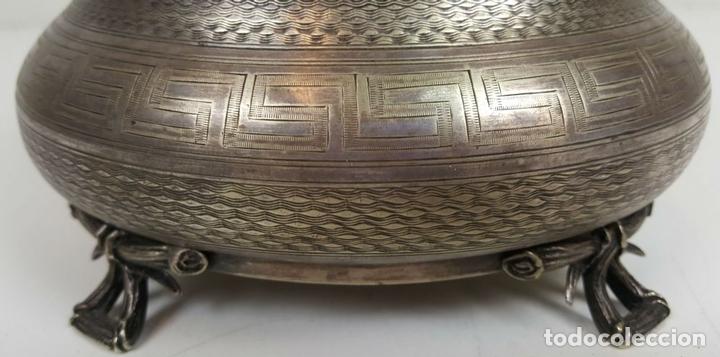 Antigüedades: JOYERO DE ALPACA PLATEADA. ESTILO BARROCO. SIGLO XX. - Foto 9 - 108790139
