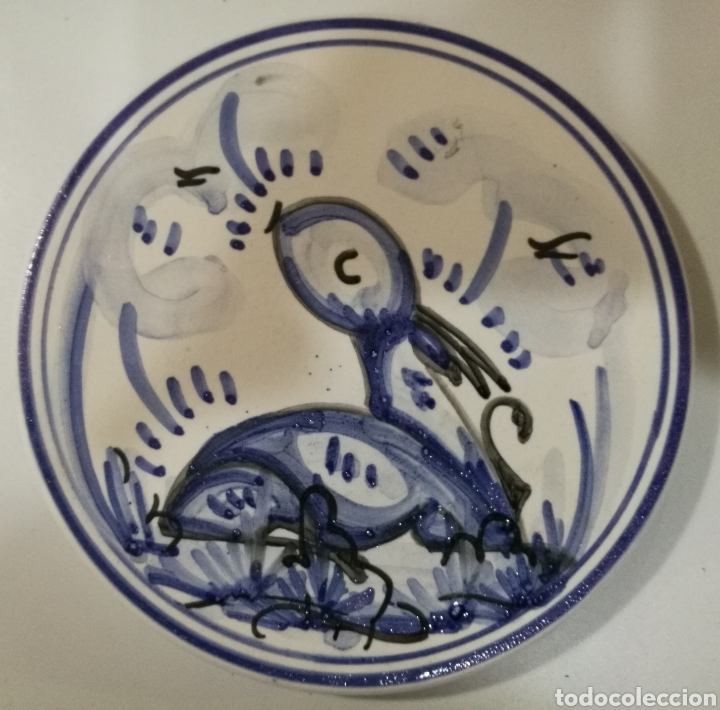 PLATO DE CERÁMICA DE TRIANA 14.5 CM (Antigüedades - Porcelanas y Cerámicas - Triana)