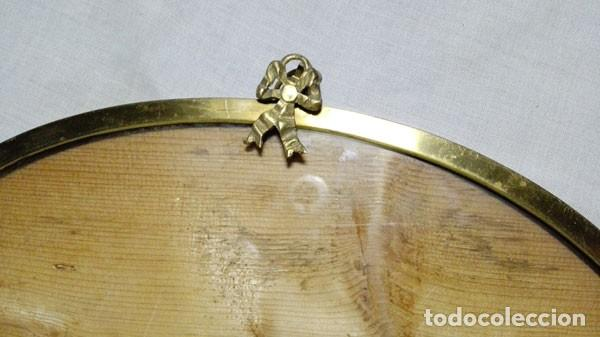 Antigüedades: GRAN MARCO DE BRONCE OVALADO MODERNISTA PARA FOTOS O ESPEJO - Foto 2 - 108812999