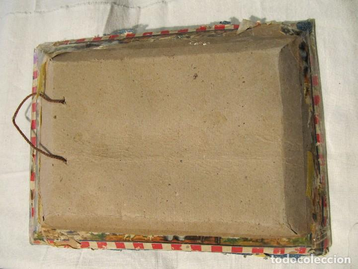 Antigüedades: ANTIGUO CUADRO CON RELIEVE - VIRGEN CON NIÑO - TRABAJO MONJIL - - Foto 3 - 108821815