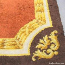 Antigüedades: ALFOMBRA SEÑORIAL DE NUDO ESPAÑOL HECHA A MANO.. Lote 108832167
