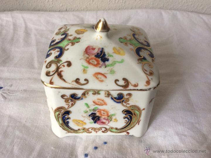 Antigüedades: Antigua cajita en Porcelana Francesa de principios de siglo?ideal coleccionistas - Foto 2 - 108834623