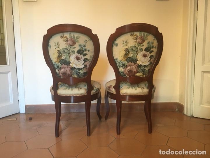 Antigüedades: Silla isabelina tapizada. - Foto 3 - 103788790