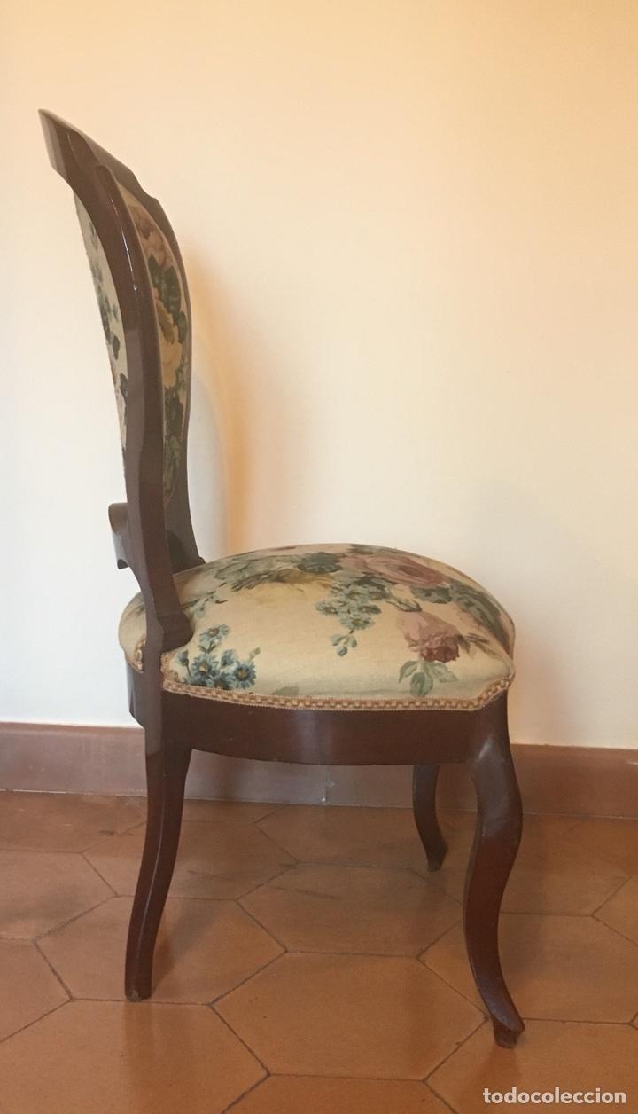 Antigüedades: Silla isabelina tapizada. - Foto 4 - 103788790