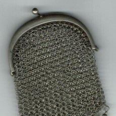 Antigüedades: MONEDERO DE PLATA-DOS COMPARTIMENTOS. Lote 108888987