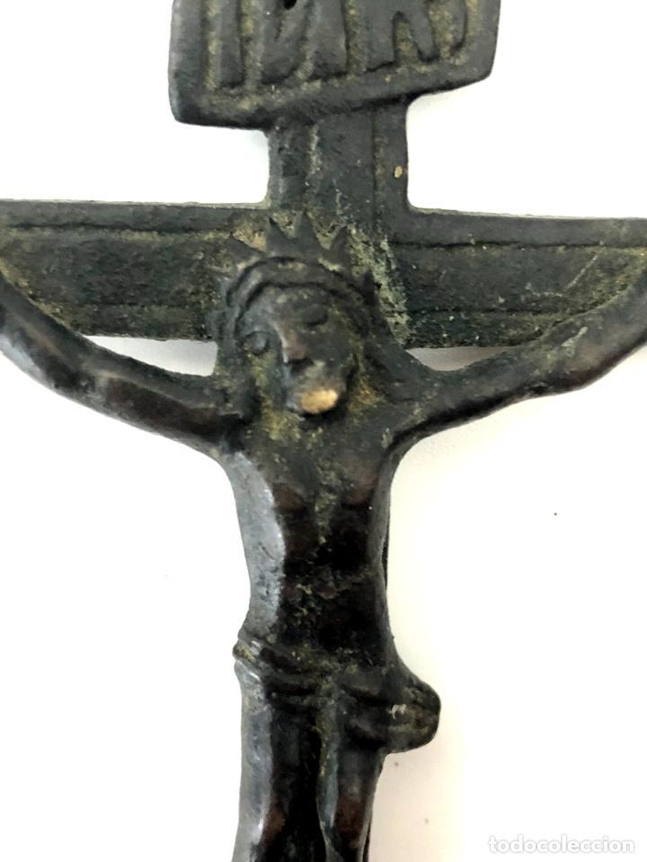 Antigüedades: CRUZ - CRUCIFIJO PECTORAL - BRONCE - ROMA - S. XVII - Foto 4 - 108895099