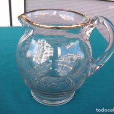 Antigüedades: JARRA DE CRISTAL TALLADO SANTA LUCÍA.. Lote 108900987