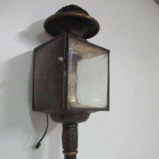 Antigüedades: ANTIGUO FARO DE CARRUAJE - FAROL - COCHE DE CABALLOS - MARCA DUCELLIER & CIA, PARÍS - S. XVIII - XIX. Lote 108903567