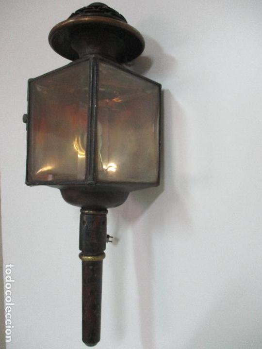 Antigüedades: Antiguo Faro de Carruaje - Farol - Coche de Caballos - Marca Ducellier & Cia, París - S. XVIII - XIX - Foto 8 - 108903567