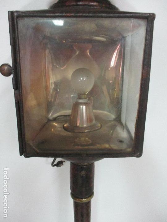 Antigüedades: Antiguo Faro de Carruaje - Farol - Coche de Caballos - Marca Ducellier & Cia, París - S. XVIII - XIX - Foto 10 - 108903567