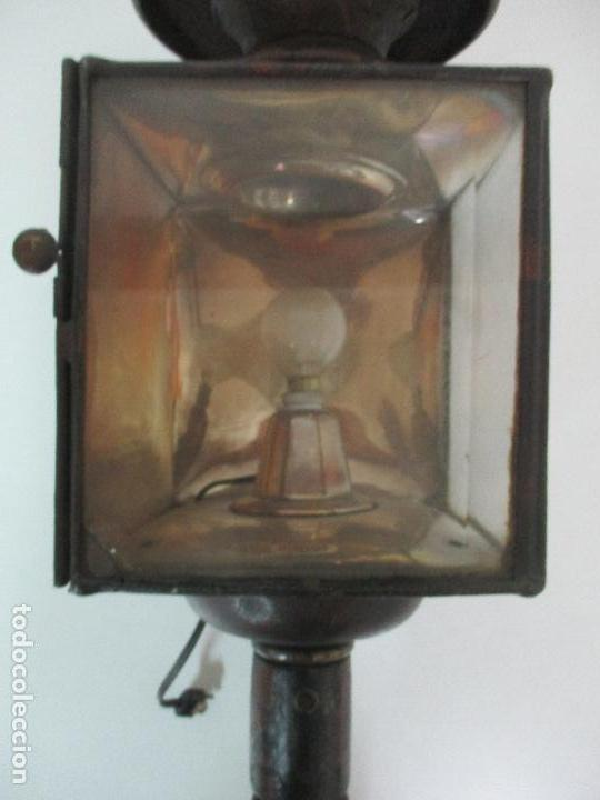 Antigüedades: Antiguo Faro de Carruaje - Farol - Coche de Caballos - Marca Ducellier & Cia, París - S. XVIII - XIX - Foto 11 - 108903567