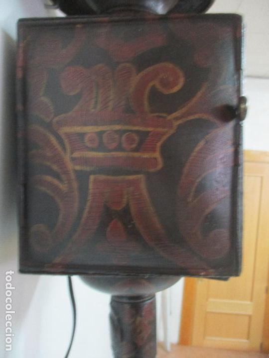 Antigüedades: Antiguo Faro de Carruaje - Farol - Coche de Caballos - Marca Ducellier & Cia, París - S. XVIII - XIX - Foto 15 - 108903567
