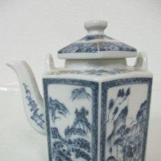 Antigüedades: BONITA CAFETERA CHINA - PORCELANA - CON DECORACIÓN ORIENTAL - S. XX. Lote 108907535