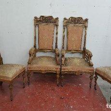 Antigüedades: CONJUNTO DE SILLERIA DE ESTILO ALFONSINO. Lote 108908699