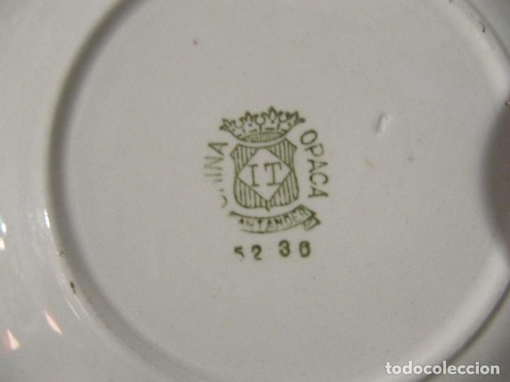 Antigüedades: ANTIGUA TAZA Y PLATO - CHINA OPACA SANTANDER IT - Foto 4 - 108919875