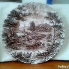 Antigüedades: PLATO RIDGWAY IRONSTONE - EST. 1792 STAFFORDSHIRE ' HAYRIDE ' ENGLAND.. Lote 108925831