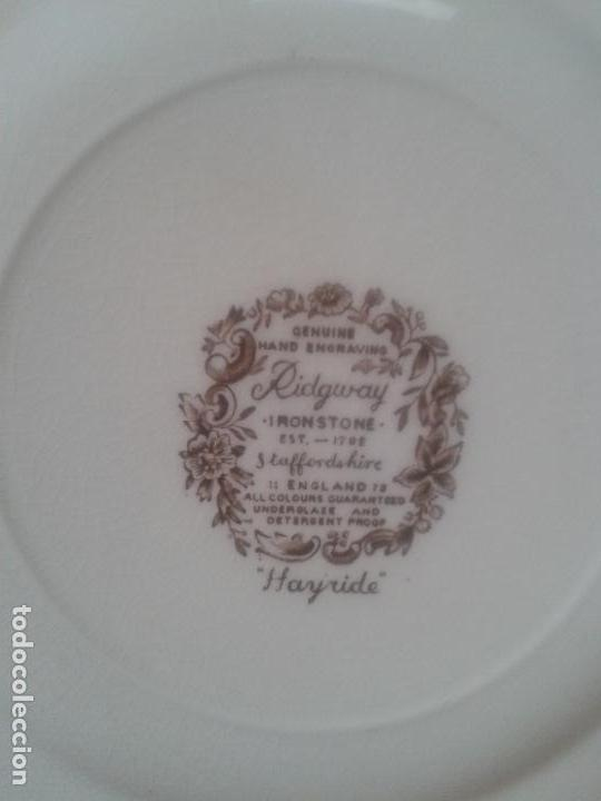 Antigüedades: PLATO RIDGWAY IRONSTONE - EST. 1792 STAFFORDSHIRE ' HAYRIDE ' ENGLAND. - Foto 2 - 108925831