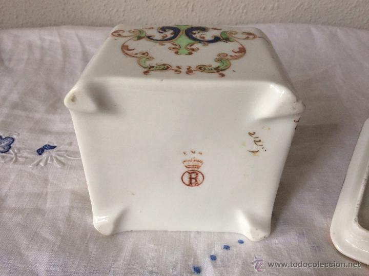 Antigüedades: Antigua cajita en Porcelana Francesa de principios de siglo?ideal coleccionistas - Foto 4 - 108834623