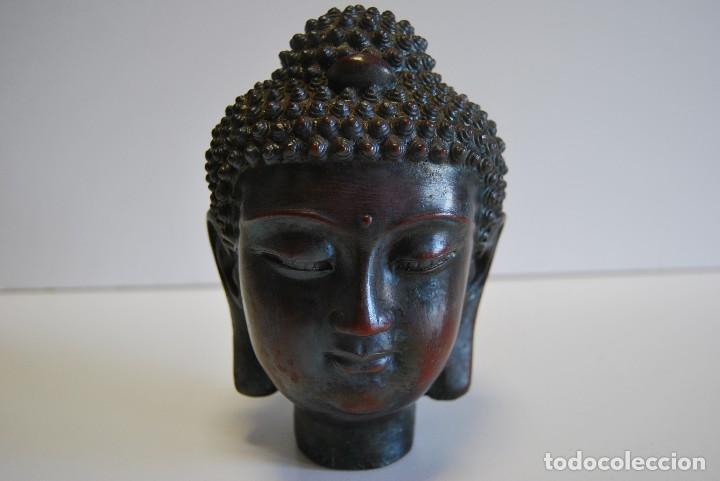 Antigüedades: Cabeza Buda - Foto 2 - 108930771