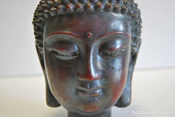 Antigüedades: Cabeza Buda - Foto 3 - 108930771