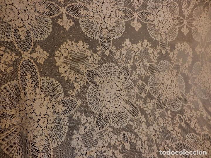 Antigüedades: Fantástico panel, mantelería mantel cubre mesa u otros usos en Alençon antiguo. Años 20. - Foto 3 - 108981807