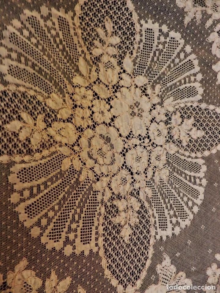 Antigüedades: Fantástico panel, mantelería mantel cubre mesa u otros usos en Alençon antiguo. Años 20. - Foto 4 - 108981807