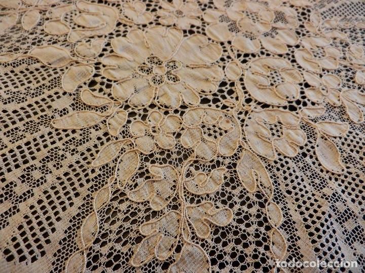 Antigüedades: Fantástico panel, mantelería mantel cubre mesa u otros usos en Alençon antiguo. Años 20. - Foto 6 - 108981807